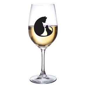CATS KITTEN VINYL STICKERS FOR WINE GLASS X 6