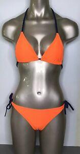 Arena Bicolor Sliding Damen Triangle Bikini herausnehmbare Pads Orange/Blau