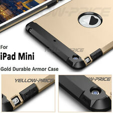 Gold iPad Mini 1 2 3 Case High Impact Resistant Hybrid Dual Layer Defender