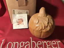 Longaberger Milk Glass Pumpkin Dish - New - w/Orig. box & product card - Cute!