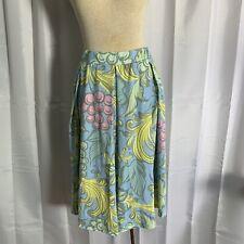 LuLaRoe Madison Skirt Circle Twirl Box Pleat Hidden Pockets Pastel Fruit Floral