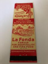 Vintage Matchbook Cover La Fonda Santa Ana California
