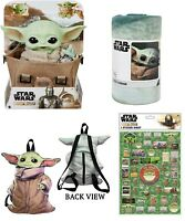 Star Wars Collectible Baby Yoda plush Carrying Satchel, fleece,backpack,stickers