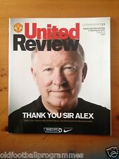 MANCHESTER UNITED V SWANSEA CITY (ALEX FERGUSON LAST HOME GAME)(12/05/2013)