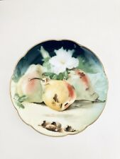 Rare Beautiful Antique Hand Painted Fruit Plate, Charlotte Jr Bavaria