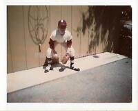 BASEBALL PHANTOM Boy LITTLE LEAGUE Vintage POLAROID Found Photo COLOR 03 10 G