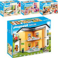 PLAYMOBIL® City Life 4er Set 9266 9267 9270 9271 Modernes Wohnhaus + 3 Zimmer