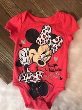 Disney Baby Minnie Mouse 3/6 Months Girls Hugs & Kisses Body Suit