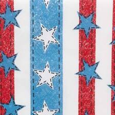AMERICAN DENIM FLAG DESIGN Dog Bandanna Doo Rag Du Rag Handkerchief Made in USA