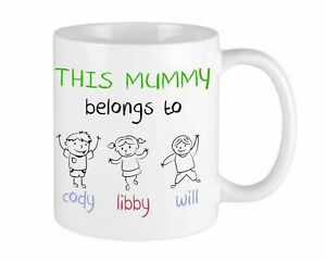 This Mummy belongs To Christmas Mug Personalised Gift For Her Grandparents