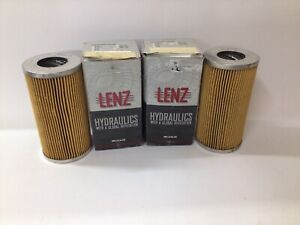 (Lot Of 2) LENZ Hydraulic Filter Element 8-15 Filters - Read Description
