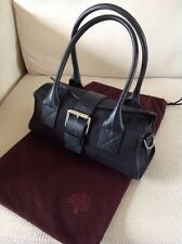 Lovely Mulberry Black Jacquard Weave 'logo' Bag. Excellent Condition.