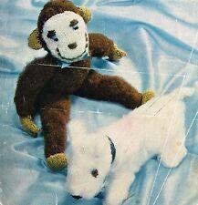 Cheeky Monkey & escocés Perro Tejer patrón. Laminado copia.