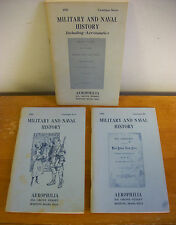 Lot of 3 AEROPHILIA Military & Naval History Catalogs 1969-1970