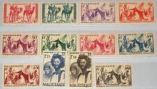 MAURITANIA MAURETANIEN 1939 110-21 ex 76-08 Nomads Nomaden Beduinen Beduins MLH