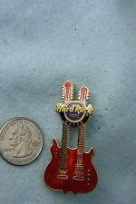 HARD ROCK HOTEL PIN MACAU DOUBLE NECK RED GUITAR
