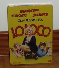 CON FALDAS Y A LO LOCO-SOME LIKE IT HOT-STEELBOOK-METALICA-2 DVD-PRECINTADA