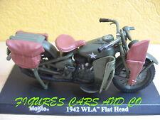 MOTO 1/18 HARLEY DAVIDSON WLA FLAT HEAD 1942 US ARMY