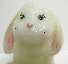 5293H3 - 3 1/2''tall, 'Lop Ear', Springtime Glitter Sitting Bunny Rabbit