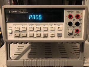 Agilent HP 34401A 6.5 Digit Multimeter GPIB 4 Wire Resistance Calibration Poss