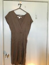 Diane von Furstenberg brown silk dress in size 8