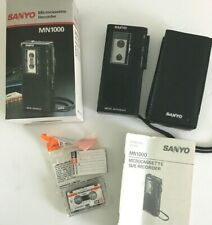 Vintage SANYO Micro Cassette Tape Recorder MN1000 TESTED
