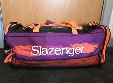 Vintage Slazenger Duffle Rucksack Gym Bag Shoulder Retro Sports Backpack Tennis