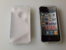 Klar Apple iPhone 4 Schutz Hüllen SILIKON CASE Handy Tasche Cover
