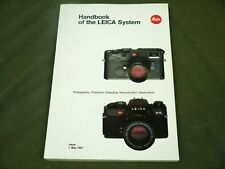 HANDBOOK OF THE LEICA SYSTEM - LEITZ - ISSUE MAY 1987 (100-021) PB VERY GOOD