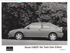Rover 216 GTi Twin Cam Original 1990 B&W prensa fotografía Pub. no. WR9008303-1