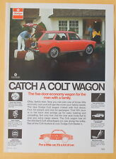 Dodge Colt Wagon 1972  Magazine Print Ad