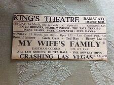 a2i ephemera 1950s advert margate my wife's family leo gorcey huntz hall bowery