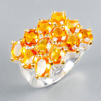 Jewelry for Sale Natural Citrine 925 Sterling Silver Ring Size 6.5/R125099