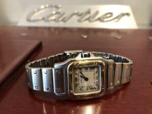 Women's Cartier Santos Watch 18k Gold & Steel inc Box