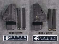 NEW RAVEN CONCEALMENT GLOCK 43 MORRIGAN IWB KYDEX AMBI HOLSTER BLACK