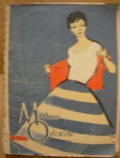 1961 Soviet fashion magazine Clothes Model young woman Pattern MODA Russian RARE