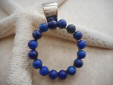 Jay King DTR Sterling Silver 925 Blue Lapis Lazuli Bead Pendant Enhancer  6225A