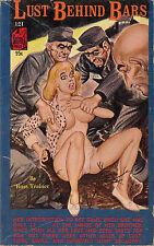 Vintage Sleaze PB Paperback - Lust Behind Bars ENEG Gene Bilbrew Satan Press