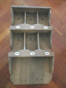 VINTAGE WOODEN FRENCH WALL SHELF