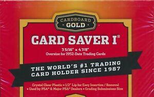 2000 Cardboard Gold Card Saver I Semi Rigid Grading Submission Toploader- 1 Case