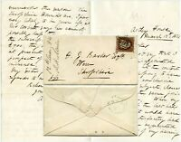 1854 LETTER ASTLEY HOUSE LIVERPOOL to BARKER WEM re BLACK HORSE ..SALMON.HOUNDS