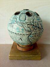 Vintage Old World Globe Pencil Holder Desk Top Office Accessory Home Decor