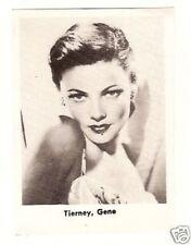 Gene Tierney -  Oddball 1950s Movie Star Card  Look!