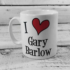 NEW I LOVE HEART GARY BARLOW GIFT CUP MUG PRESENT SINGER TAKE THAT MUSIC FAN