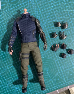 Hot Toys HT MMS509 1/6 Bucky Barnes 3.0 Action Figure Body Outfit 12in. Avengers