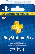 Playstation Plus UK 365 Days 12 Month Membership Card - 1 Year Sony PSN Key - UK