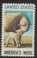 Scott 1423- America's Wool Industry, Sheep- MNH 6c 1971- unused US mint stamp