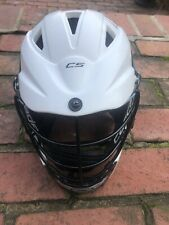 """New listing CASCADE CS WHITE YOUTH LACROSSE HELMET """"ONE SIZE FITS MOST"""" W/CHINSTRAPFree Ship"""