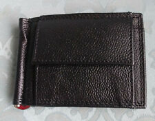 Mens Black Leather 12 Slot Folding Wallet Coin Purse Gents Immaculate