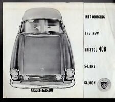 Bristol 408 5-Litre Saloon 1963-64 UK Market Foldout Sales Brochure